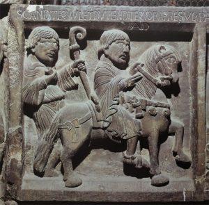 Modena, Cattedrale: Porta dei Principi:particolare del bassorilievo con scene della vita di Geminiano (secc. X-XI)