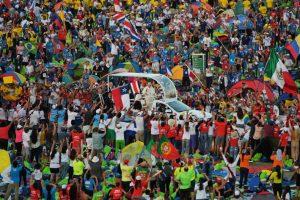 Panama, 26 gennaio 2019. I giovani alla Veglia con Papa Francesco