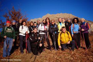 Il gruppo dell'associazione Mangia Trekking lungo il cammino