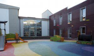 L'area giochi della scuola materna per i bambini (foto Massimo Pasquali)