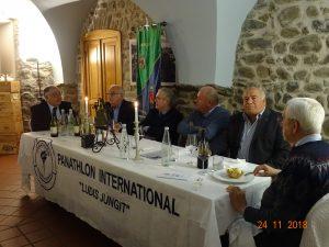 Il tavolo dei relatori del Panathlon