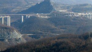 Un tratto dell'autostrada della Cisa