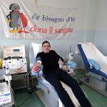Un donatore di sangue del gruppo Fratres