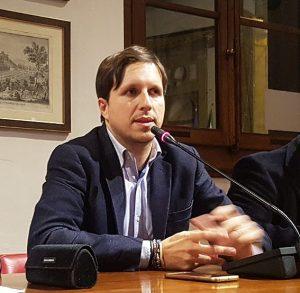 Il sindaco di Tresana, Matteo Mastrini, che ha partecipato all'incontro di Firenze