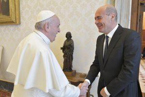 Papa Francesco aveva ricevuto il presidente della Regione Lazio, Zingaretti, il 10 gennaio scorso