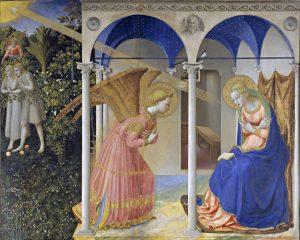 """Giovanni da Fiesole """"Beato Angelico"""", Annunciazione, (sec. XV). Madrid, Museo del Prado"""