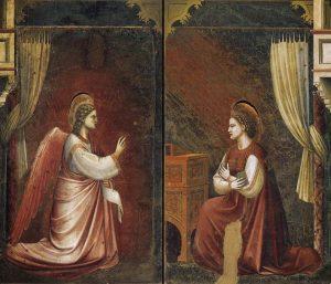 """Giotto di Bondone, """"Annunciazione"""" (1303-1305). Padova, Cappella degli Scrovegni"""