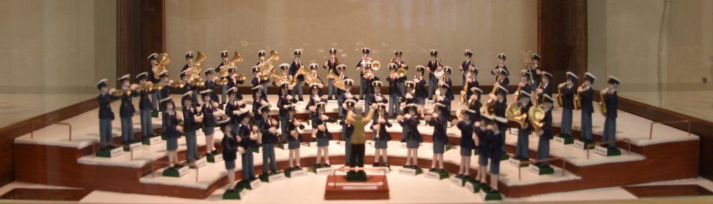 Una vera chicca realizzata da Mauro Fugacci, veterano della Musica Cittadina. Tutti i componenti della Banda realizzati come soldatini.