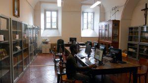 Una delle sale studio all'interno del Seminario di Pontremoli