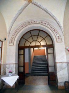 L'ingresso del Seminario di Pontremoli