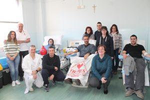 I donatori Fratres di Bagnone al centro trasfusionale dell'ospedale di Pontremoli