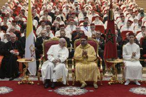 Rabat, 30 marzo: viaggio apostolico di Papa Francesco in Marocco. Visita all'Istituto Mohammed VI degli imam, predicatori e predicatrici.