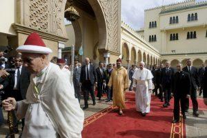 Papa Francesco in visita di cortesia al Re Mohammed VI.