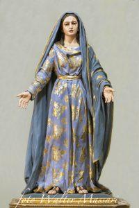 La statua della Madonna Addolorata conservata nella chiesa di San Geminiano a Pontremoli (Foto Walter Massari)