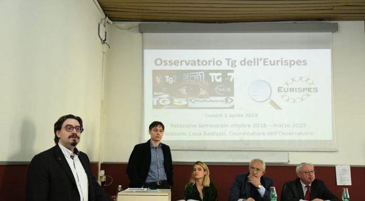 Osservatorio tg Eurispes: Matteo Salvini è il più presente in tv