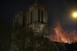 Fire at Notre-Dame Cathedral in Paris