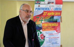 Il prof. Emanuele Rossi a Pontremoli il 27 aprile scorso