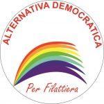 Il simbolo della lista Alternativa Democratica per Filattiera