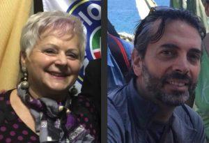 I candidati sindaci a Comano: Rita Galeazzi e Antonio Maffei