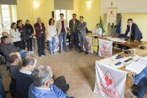 La fase di premiazione di alcuni donatori (foto Walter Massari)