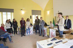 Un momento della manifestazione che si è tenuta alle stanze della Rosa (foto Walter Massari)