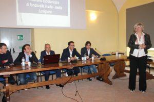 """Un momento della presentazione della Ciclovia """"Castelli del Magra"""" con il sindaco Lucia Baracchini"""