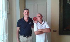 A sinistra Alessio Bocconi, presidente di Slow Food, Lunigiana – Apuana, mentre a destra Marco Cavellini responsabile territoriale delle Comunità Slow Food della Toscana