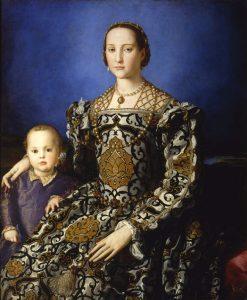 La figlia del vicerè di Napoli, Eleonora di Toledo (qui con il figlio Giovanni), andata in sposa a Cosimo I nel 1539