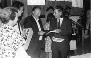 Marino Bertocchi a Morières lès Avignon nel 1987 per un incontro nel gemellaggio tra gruppi donatori di sangue