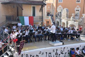 La Filarmonica Santa Cecilia di Pallerone che ha ospitato il raduno bandistico provinciale
