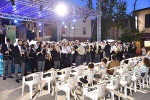 La Musica Cittadina Pontremoli in attesa di dare avvio al concerto serale a Cascina