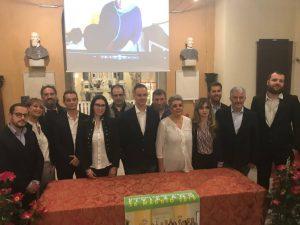 Gianluigi Giannetti con i componenti della lista che hanno sostenuto la sua candidatura