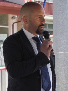 Inaugurazione scuola Villafranca - Fabrizio Boni architetto progettista (foto Massimo Pasquali)
