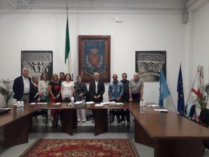 Foto di gruppo del nuovo consiglio comunale di Casola