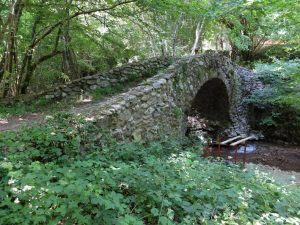 L'antico ponte sul torrene Navola che dà il nome alla località sede degli scavi archeologici