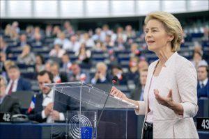 La neo presidente della Commissione Europea Ursula von der Leyen