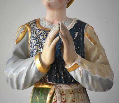 Dopo il restauro è tornata ad Adelano la statua dell'orante