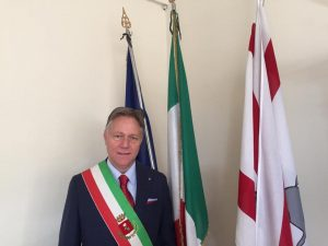 Il sindaco di Aulla, Roberto Valettini, presidente dell'Unione di Comuni