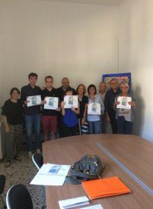 """Un momento della presentazione del Progetto """"Bottega della Salute"""" con i cinque giovani lunigianesi e i responsabili della Società della Salute"""