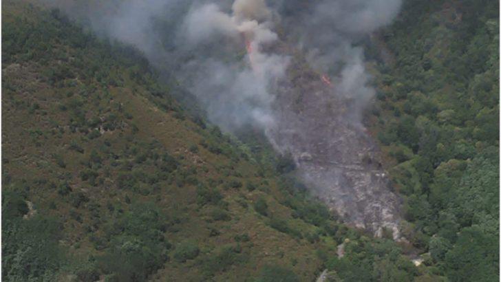 Casola: incendio nei boschi della frazione di Luscignano