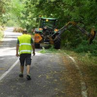 Lunigiana: prosegue il taglio dell'erba sulle strade Provinciali
