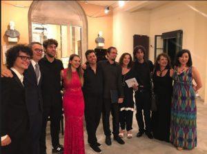 Foto di gruppo di alcuni dei partecipanti al Lunigiana International Music Festival