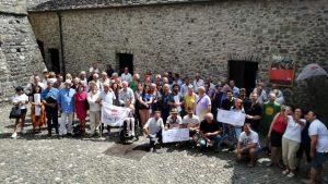 Foto di gruppo dei partecipanti alla giornata Slow Food al Piagnaro