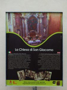 Un altro cartello dedicato alla chiesa di San Giacomo d'Altopascio.