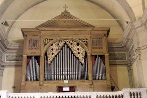 L'organo nella chiesa di San Nicolò a Bagnone: realizzato nel 1899 dai fratelli Cavalli di Lodi, è l'unico rimasto a due tastiere