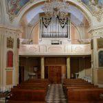 L'imponente organo del Settecento nella chiesa di Orturano: in origine era nel duomo di Pontremoli