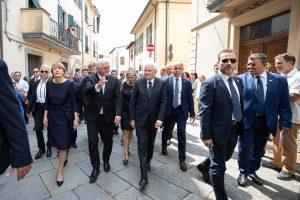 Il passaggio dei due presidenti lungo le vie di Fivizzano