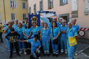 Foto di gruppo dei volontari della Misericordia di Bagnone