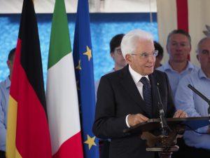 Un momento dell'intervento del presidente Mattarella