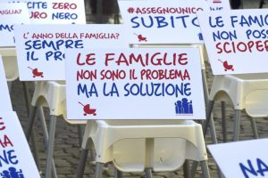 Roma, manifestazione dei passeggini, per l'Assegno unico (Cristian Gennari/Siciliani)